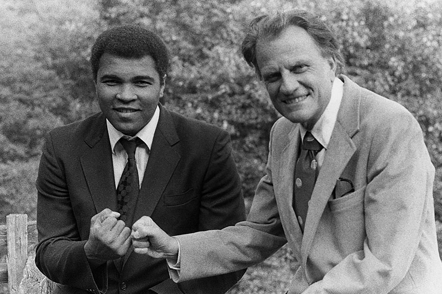 Billy Graham with Muhammad Ali