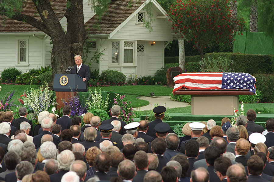 Billy Graham at Nixon Funeral