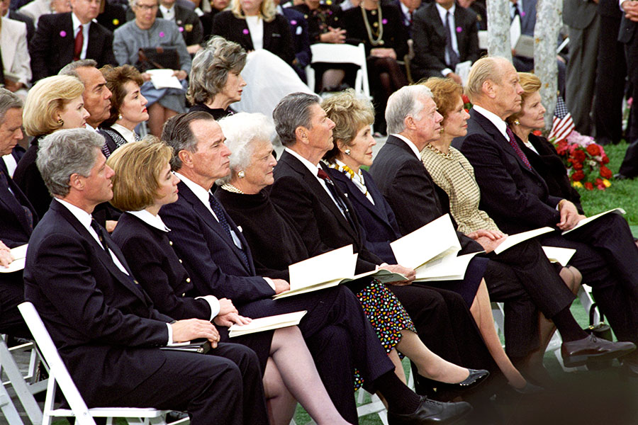 Presidents at Nixon Funeral